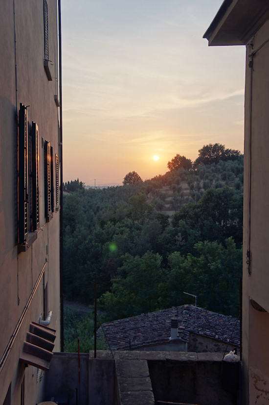 Sunset in Vinci, Italy