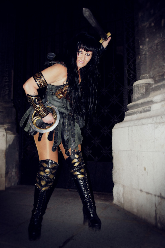 Xena Zellich as Xena with Sword and Chakram