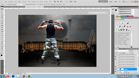 Ancalime editing a photo in Photoshop (Screenshot)