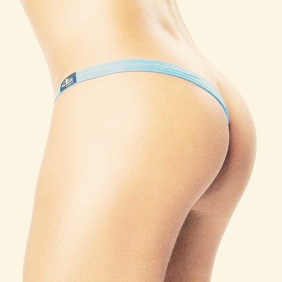 Asymmetric thong for men: String Latéral Flash Bleu Alter © inderwear.com