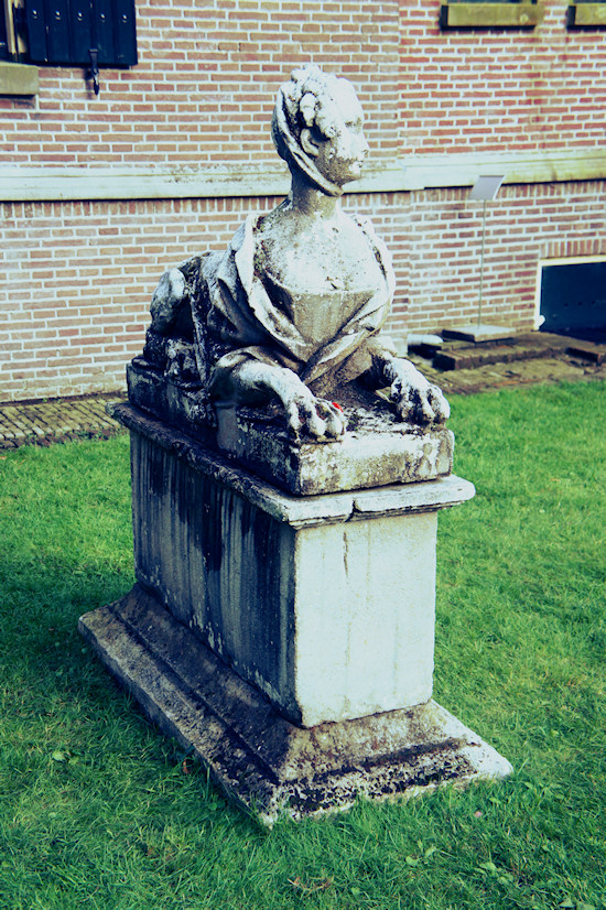 Sphinx Statue in front of Keukenhof Castle
