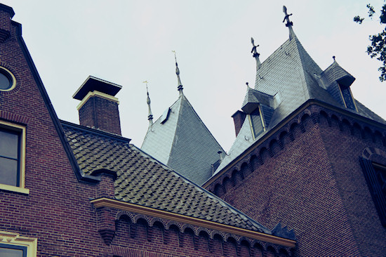 The roofs of Keukenhof Castle