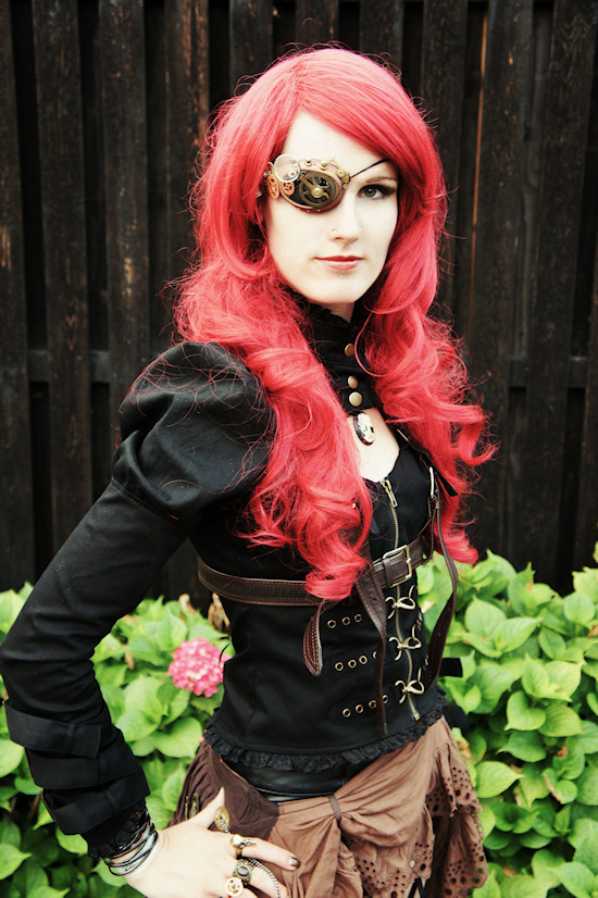 Anja Elzinga aka the Living Dread Doll in a steampunk outfit @ Castlefest 2012