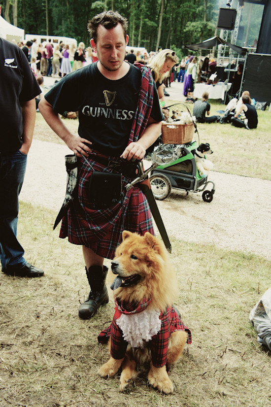 Castlefest Outfit Kilt and Dog