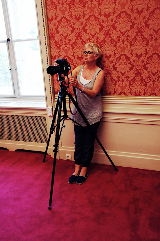 Photographer Inge Prader at work. Shooting Stefan Schobesberger Fashion Collection Persönlich gekleidet @ Palais Schönburg