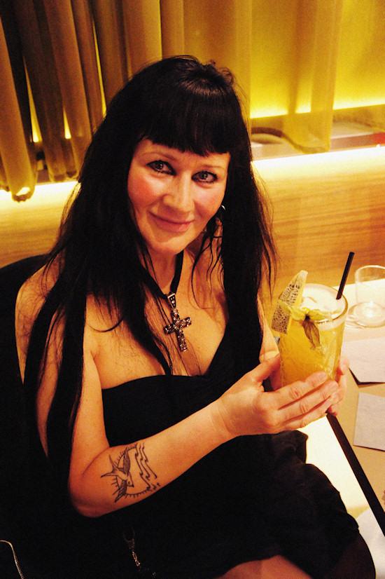 Xena drinking Graparita Cocktail @ Joma Bar Wien
