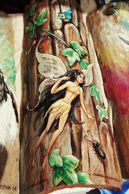 Elf Painting on Wood
