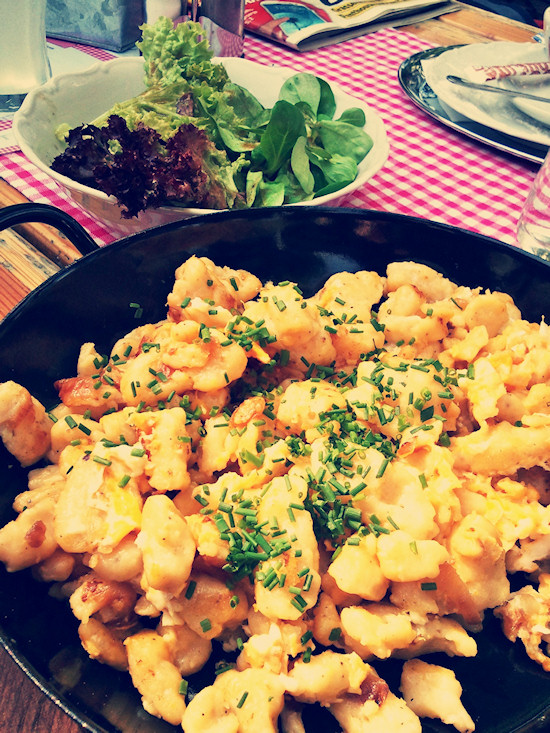 Egg dumplings, Eiernockerl @ Hütte am Weg, Wien