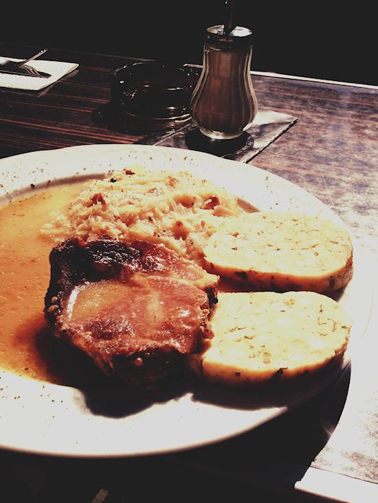 Smoked meat, Geselchtes @ Cafebar Sodis, Rotenturmstraße, Wien