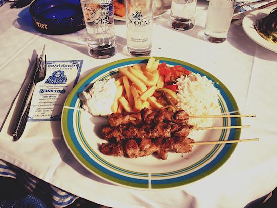 Greek BBQ, Souvlaki @ Rembetiko, Donauinsel, Wien