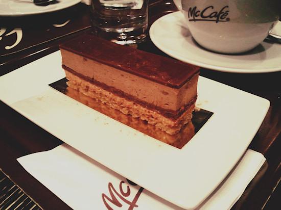 Nougat Temptation Cake @ McDonald's McCafe, Wien