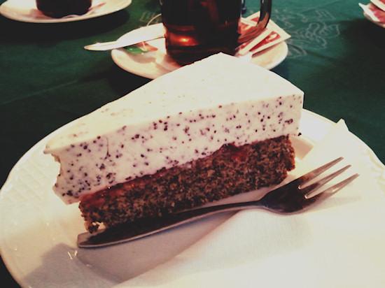 Poppy seed cake, Mohnschnitte @ Gösser Bierinsel, Wien