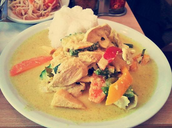 Thai green curry with chicken, Gaeng Kiew Wan Gai @ Thai Isaan, Wien
