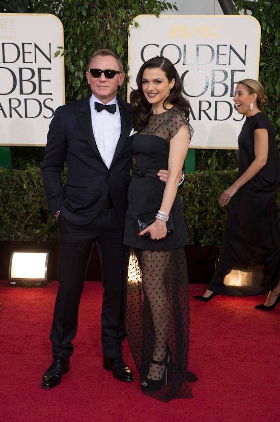 Golden Globes 2013: Daniel Craig in a sleek Tom Ford tuxedo and