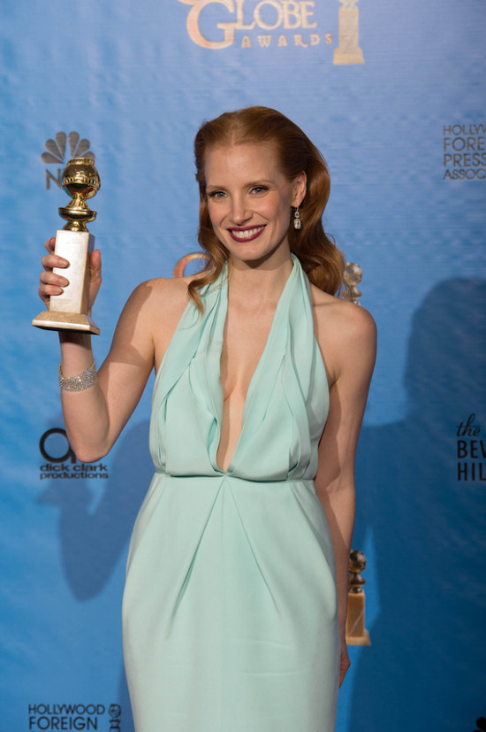 Golden Globes 2013: Jessica Chastain