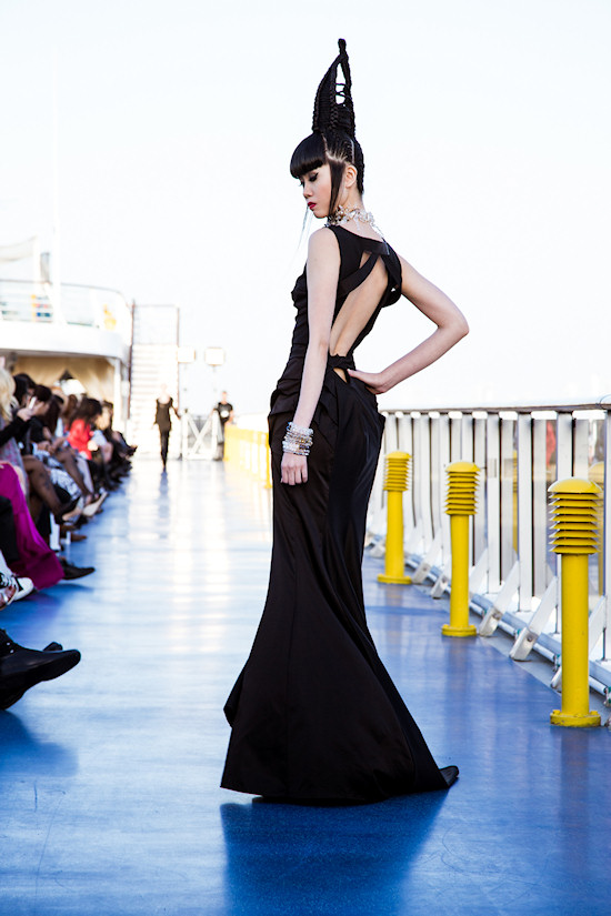 Jessica Minh Anh: Fashion show by russian designer Polina Raudson on Costa Atlantica