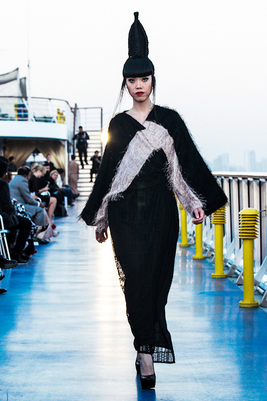 Jessica Minh Anh: Fashion show by House of Art Slouchy'Z on Costa Atlantica