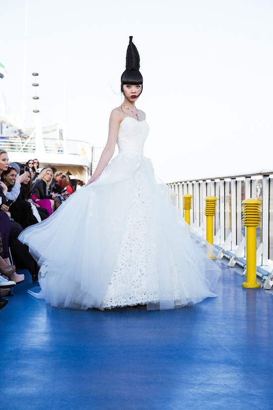 Jessica Minh Anh: Fashion show by Frost Boutique on Costa Atlantica