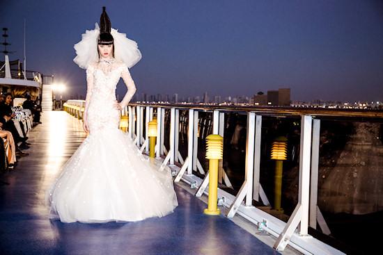Jessica Minh Anh: Fashion Show by Vietnamese Designer Hoang Hai on Costa Atlantica