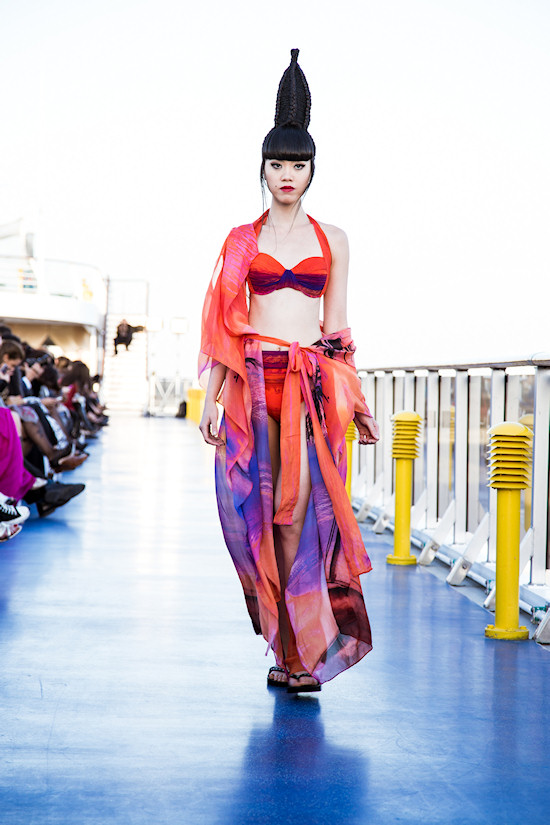 Jessica Minh Anh: Swimwear fashon show by Gottex on Costa Atlantica