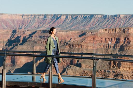 Fashion Show Lidia Demidova on the Grand Canyon Skywalk