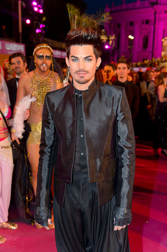 Adam Lambert @ Life Ball 2013 Magenta Carpet