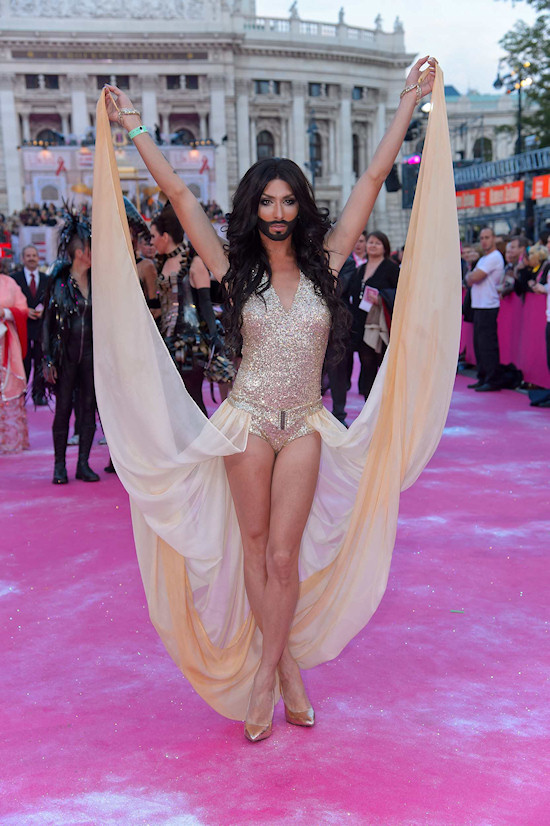 Conchita Wurst @ Life Ball 2013 Magenta Carpet