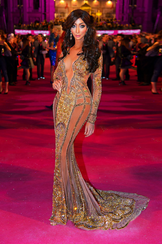 Yasmine Petty @ Life Ball 2013 Magenta Carpet