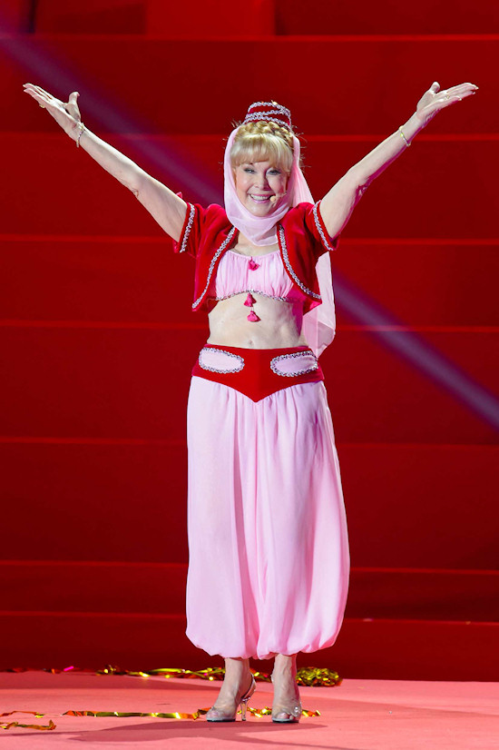 Barbara Eden (78) wearing her original I Dream Of Jeannie outfit @ Life Ball 2013