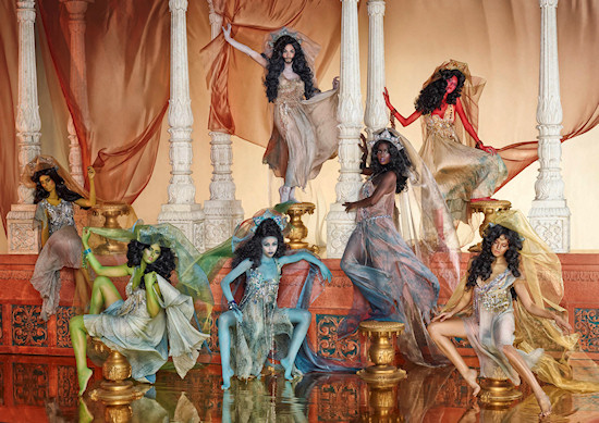 Life Ball 2013 Style Bible: The Seven Princesses with Model Conchita Wurst // Arabian Nights