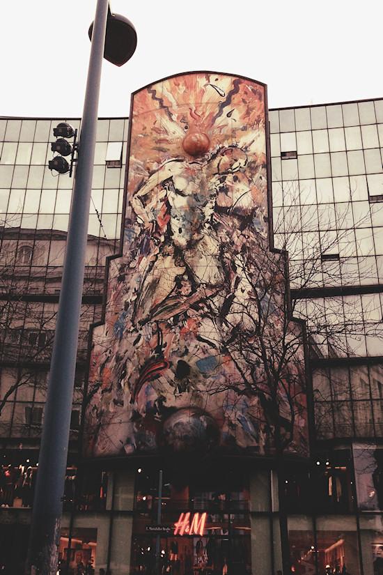 Mosaic Atterseehaus Wien, Mariahilfer Straße 78-80, by Christian Ludwig Attersee