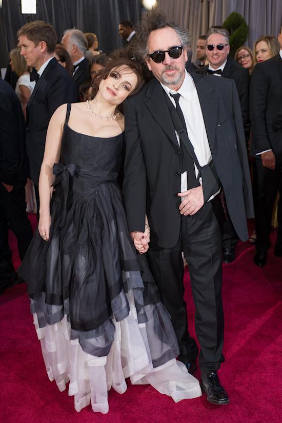 Helena Bonham Carter and Tim Burton @ Oscars 2013 Red Carpet