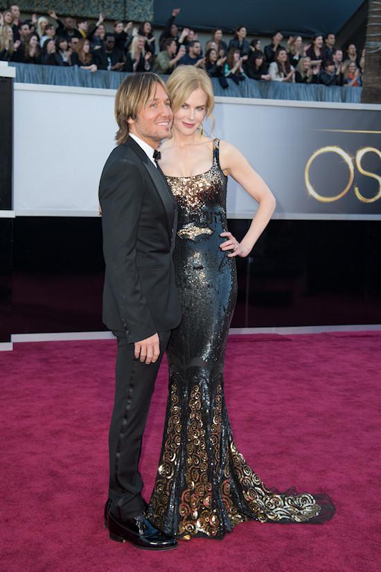 Keith Urban and Nicole Kidman @ Oscars 2013 Red Carpet