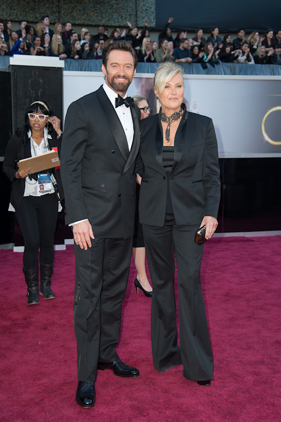 Hugh Jackman and Deborra-Lee Furness @ Oscars 2013 Red Carpet