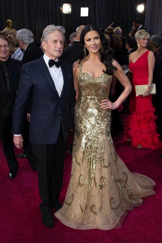 Catherine Zeta-Jones and Michael Douglas @ Oscars 2013 Red Carpet