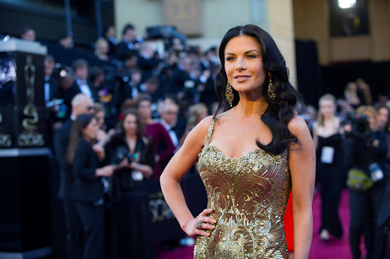 Catherine Zeta-Jones @ Oscars 2013 Red Carpet