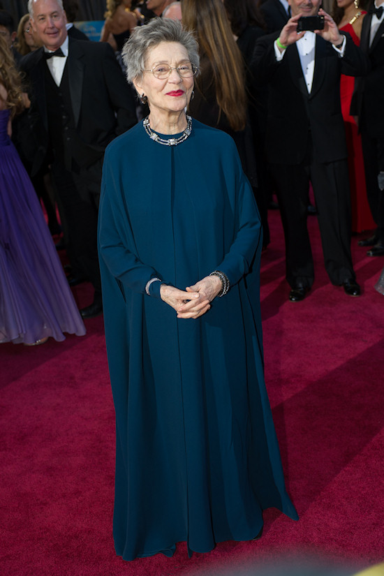 Emmanuelle Riva @ Oscars 2013 Red Carpet