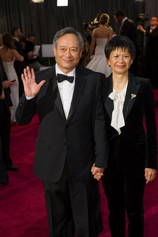 Ang Lee and Jane Lin @ Oscars 2013 Red Carpet