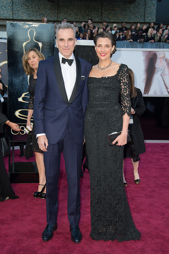 Daniel Day-Lewis and Rebecca Miller @ Oscars 2013 Red Carpet