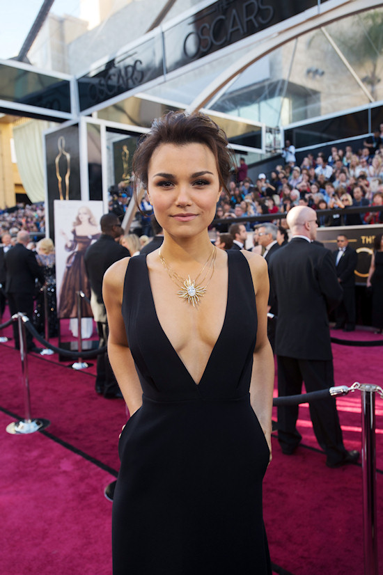 Samantha Barks @ Oscars 2013 Red Carpet