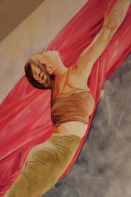 Surreal Painting Jolanda Richter: Connected, Oil on canvas, 960x100 cm, 2012