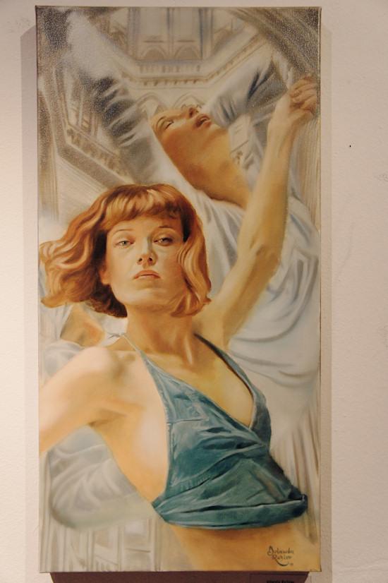 Surreal Painting Jolanda Richter: Invictus, Oil on canvas, 40x80 cm, 2011
