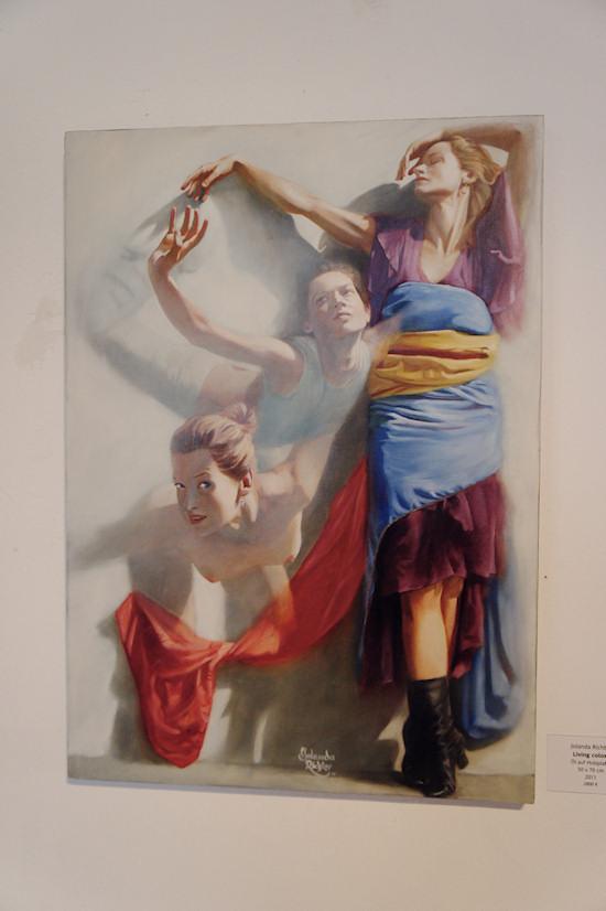 Surreal Painting Jolanda Richter: Living colors, Oil on wood, 50x70 cm, 2011