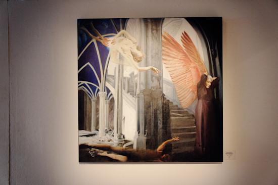 Surreal Painting Jolanda Richter: Metamorphosis 2, Oil on canvas, 100x100 cm, 2009