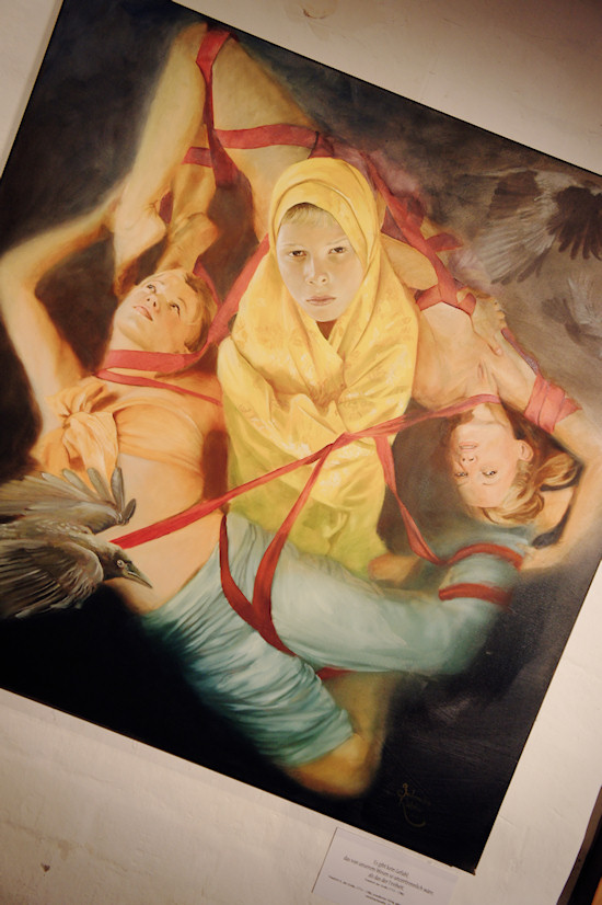 Surreal Painting Jolanda Richter: Essence of freedom, Oil on canvas, 100x100 cm, 2011