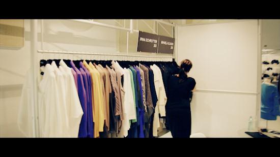 Showroom booth of Irina Schrotter and Mihaela Glavan @ Vienna Fashion Week 2013