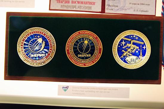 Russian medals Energia @ Space Expo Noordwijk, the Netherlands
