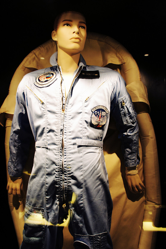 Flight suit and space sleeping bag @ Space Expo Noordwijk, the Netherlands