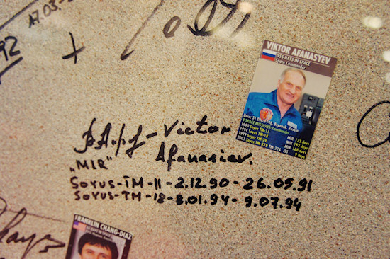 Autograph of cosmonaut Viktor Afanasyev @ Space Expo Noordwijk, the Netherlands