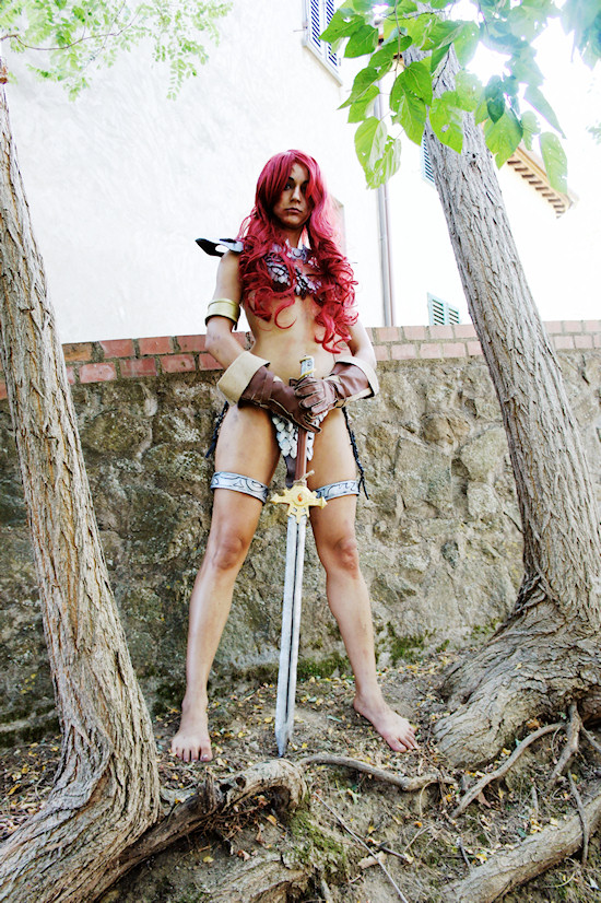 Natasha Ziviani as Red Sonja @ Unicorn Festival 2012 / Festa dell'Unicorno / Vinci